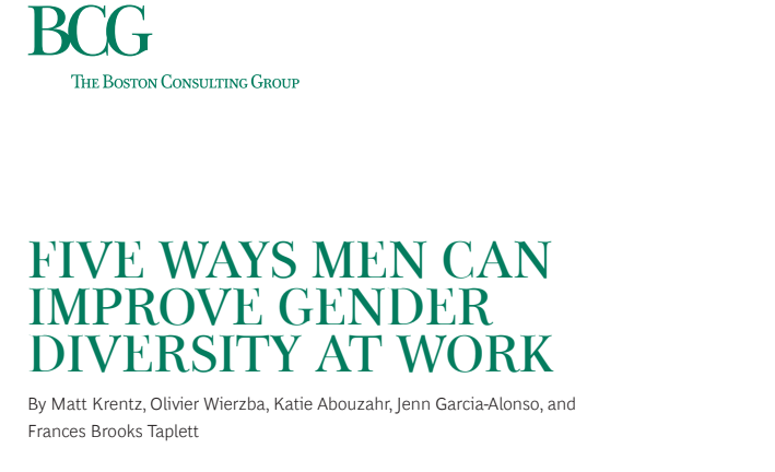 Five ways men can improve gender diversity at work – The Boston Consulting Group